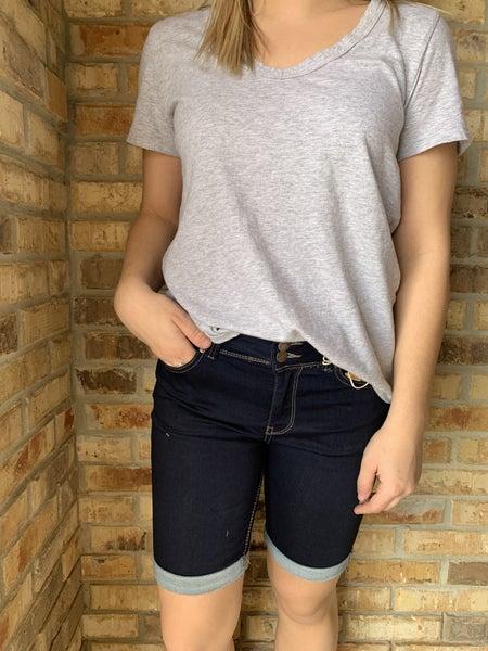 Happy Days Dark Wash Bermuda Shorts