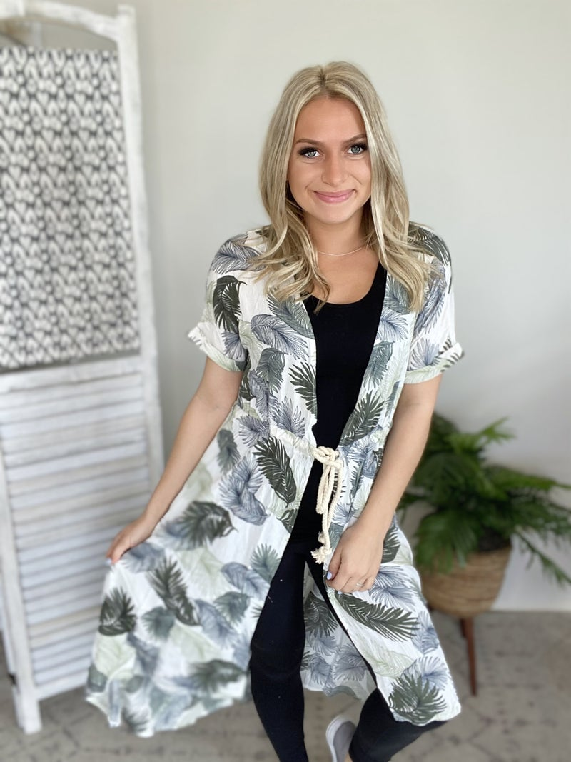 Tricky Tassel Kimono- Green