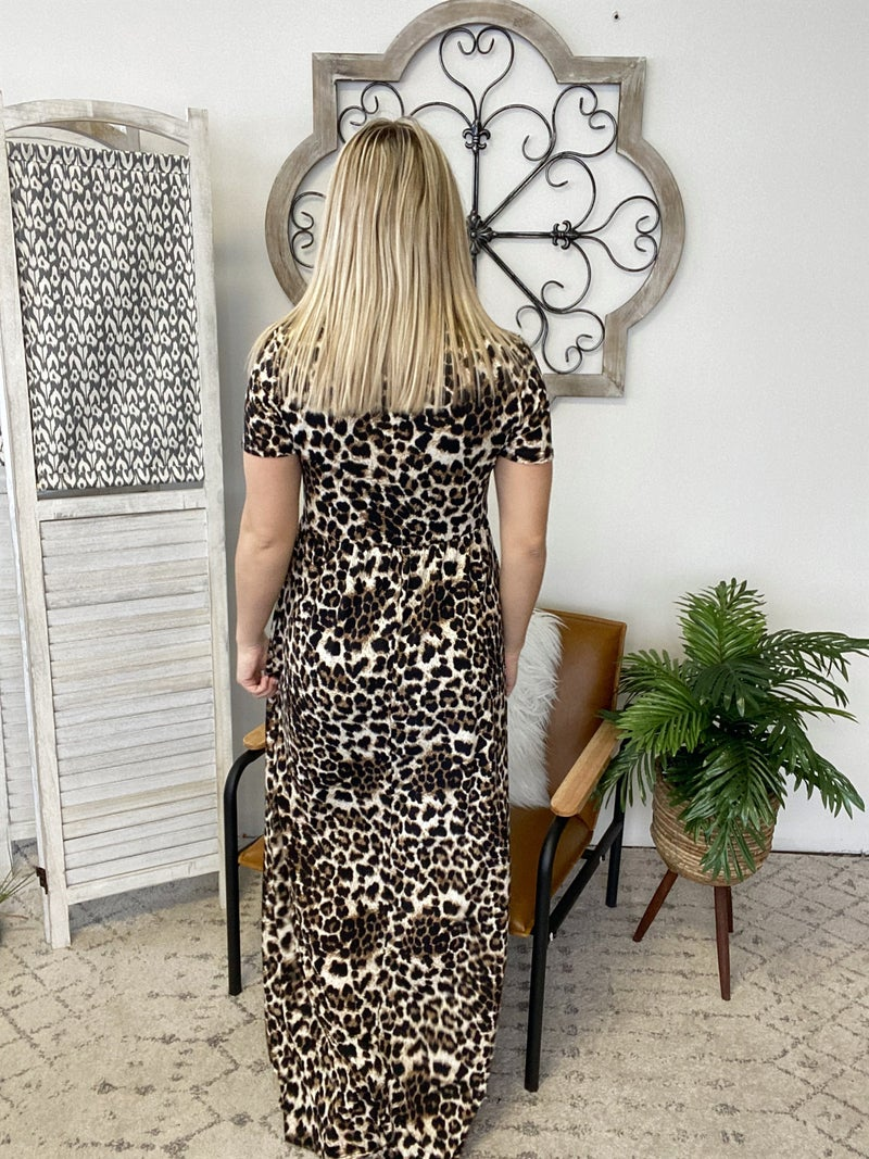Going In the Forest Cheetah Dress