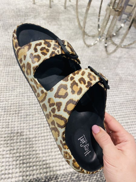 Corky Waterslide Leopard Sandals
