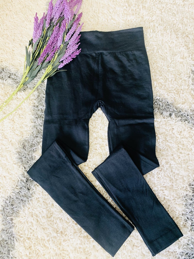 Need Them Black Fleece Leggings