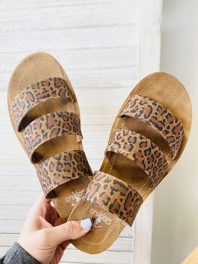 Corky Dafne Sandal- Leopard