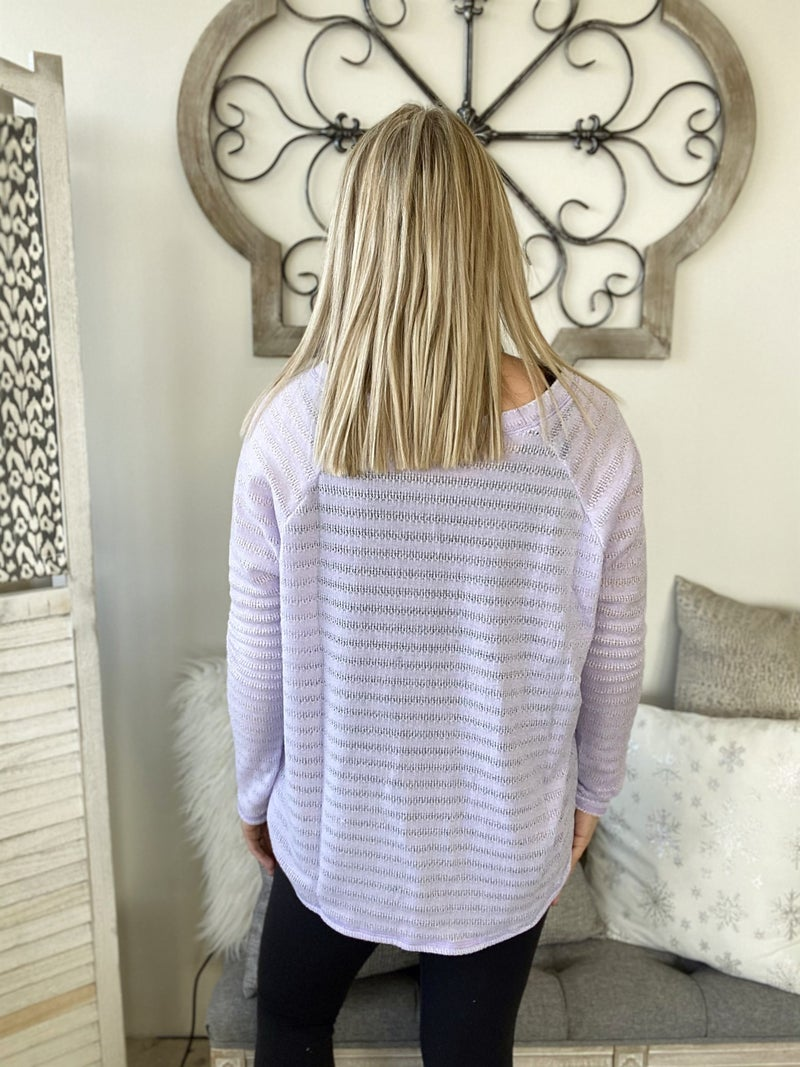 Solid Knit Top- Lilac