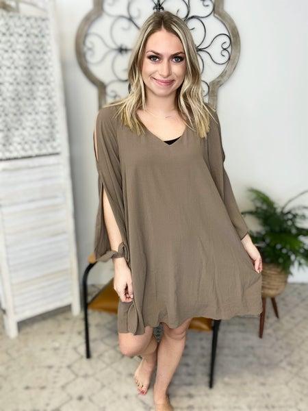 Fashion Me Dress- Dark Mocha