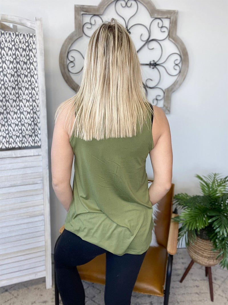 Summer Tank Top- Olive