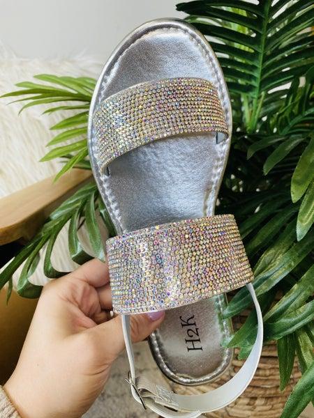 The Gracie Sandal- Silver