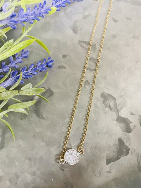 Daily Druzy Necklace- Silver