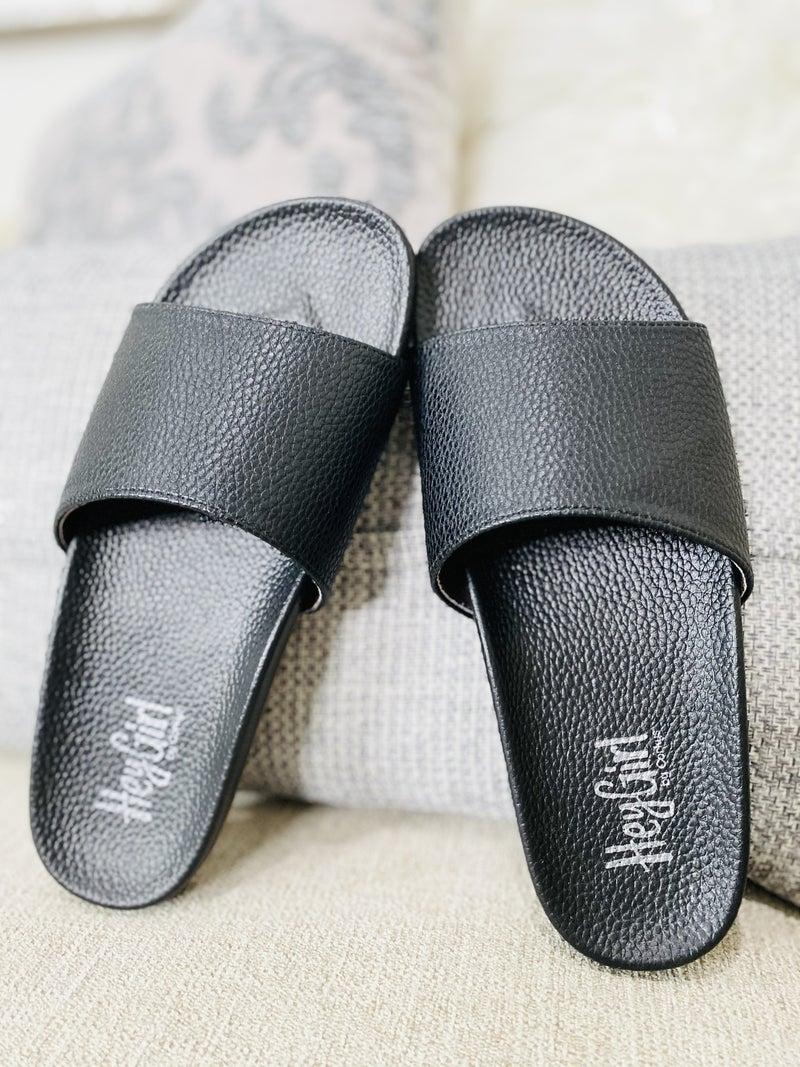 Corky Black Backyard Sandals