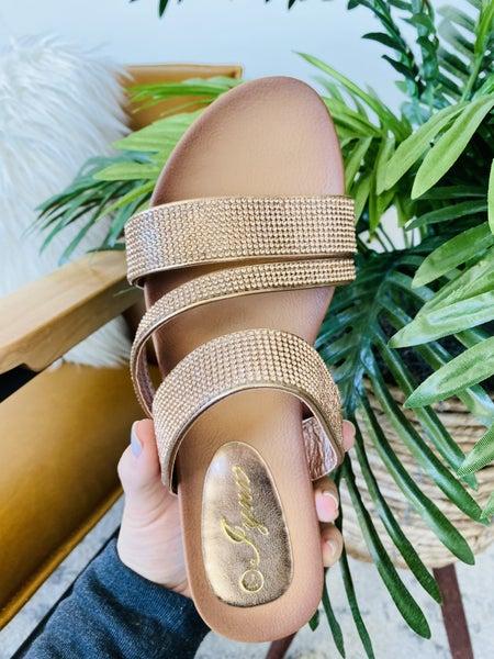 The Jill Rose Gold Sandal