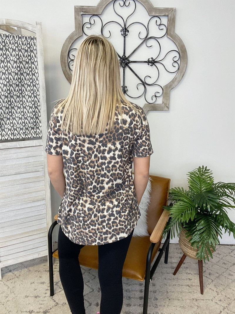 Cheetah With A Pocket Top