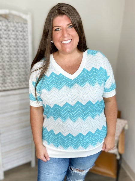 Ready For The Weekend Top- Aqua