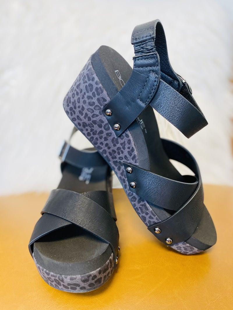 Corky's Flax Black Sandal