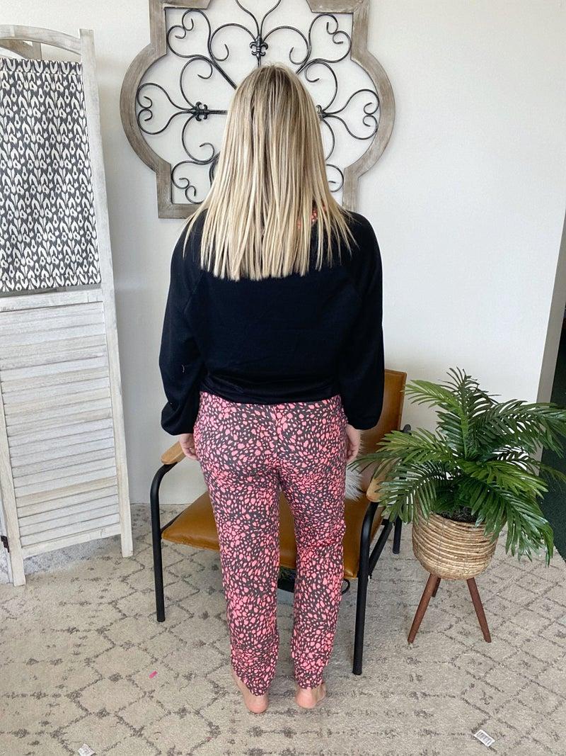 Black Speckle Loungewear Set