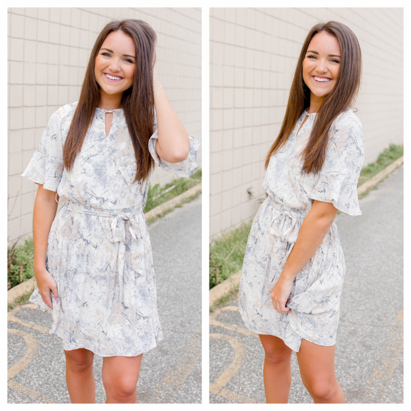 {IN STORE EXCLUSIVE - PLEATED RUFFLE DRESS }
