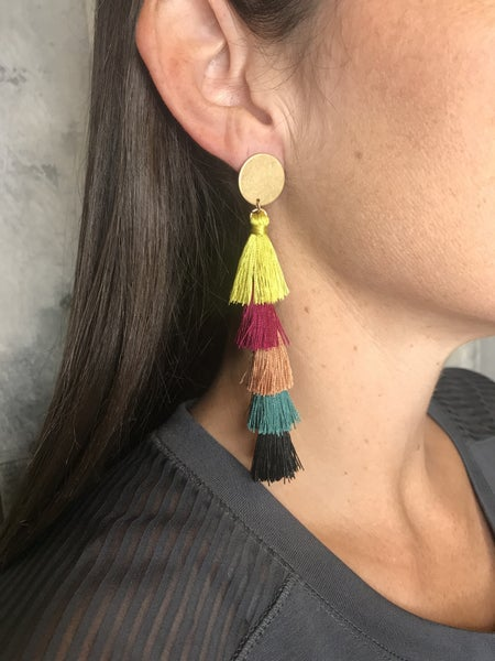 {FALL TASSLE EARRINGS}