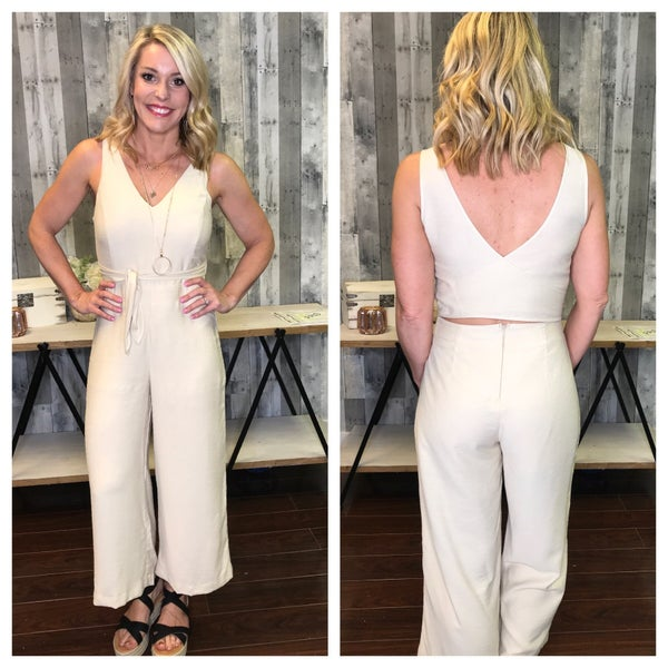 {NATURALLY YOURS CROPPED JUMPSUIT}