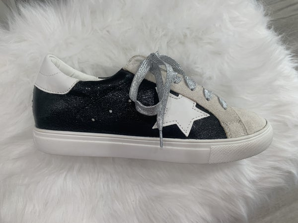 {Black Star Tennis Shoe - In Store Exclusive