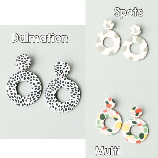 MARIE POLYMER CLAY EARRING *Final Sale*