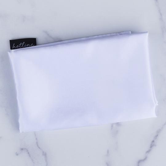 White Satin Pillow Case