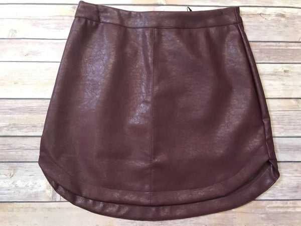 {FAUX LEATHER SKIRT} *Final Sale*