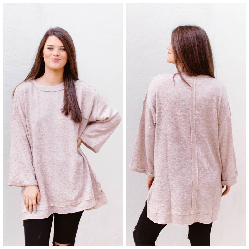 Taking my time sweater *Final Sale*