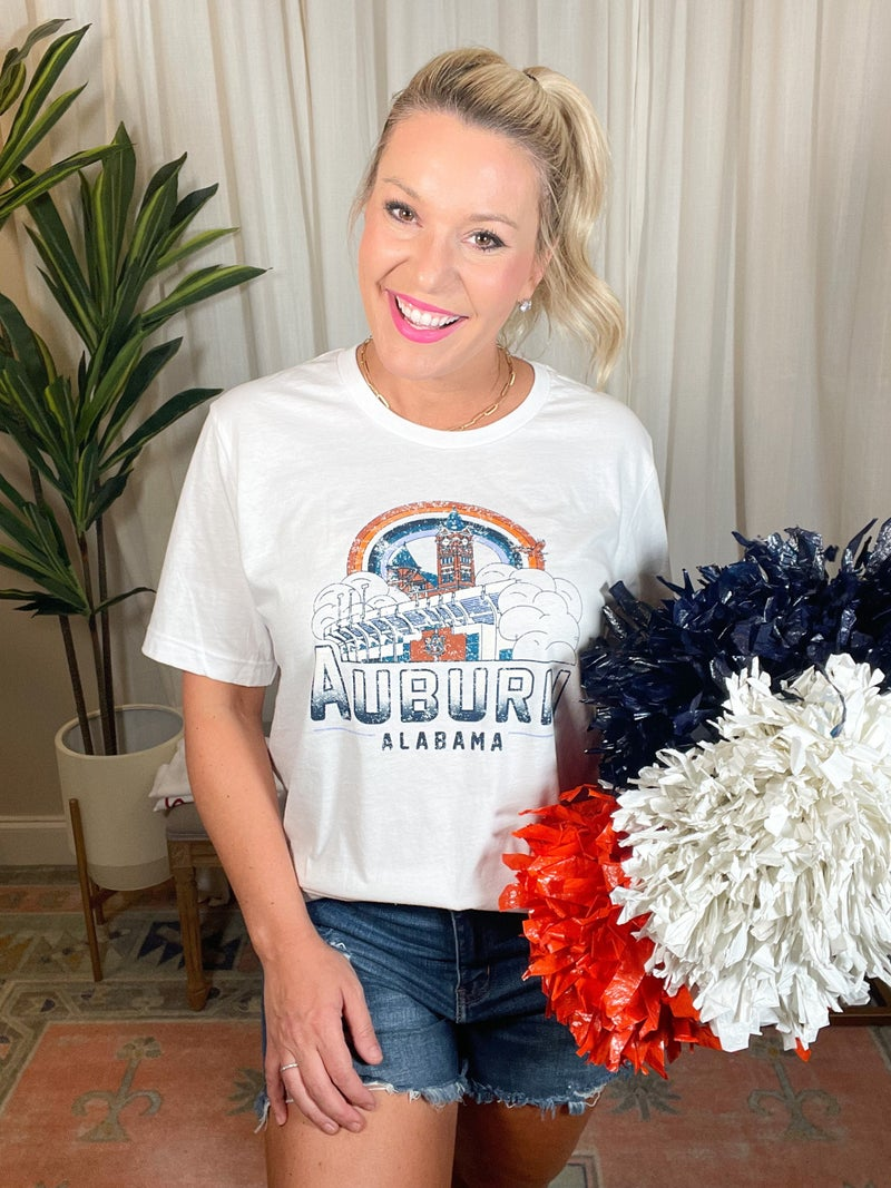 Game Day by Scarlet & Gold - Auburn Rainbow Tee