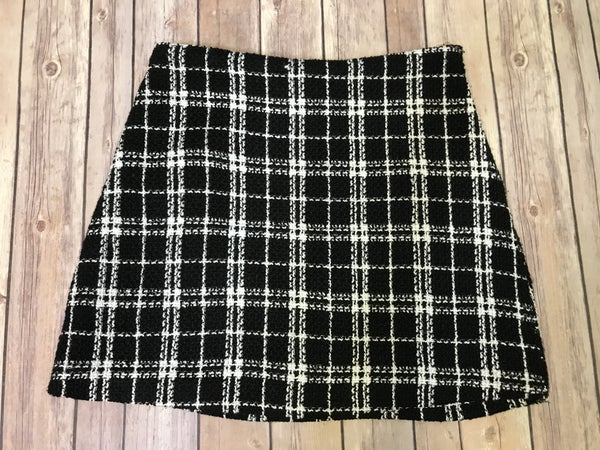 {BLACK AND WHITE TWEED SKIRT} *Final Sale*