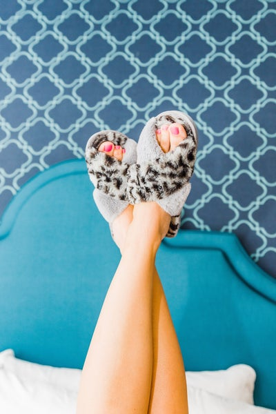 {LEOPARD HOUSE SLIPPERS} *Final Sale*
