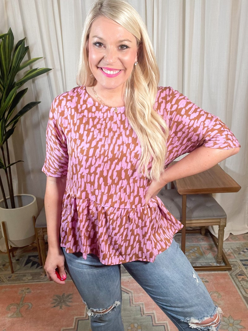 Plus and Reg- Brushed With Love Top