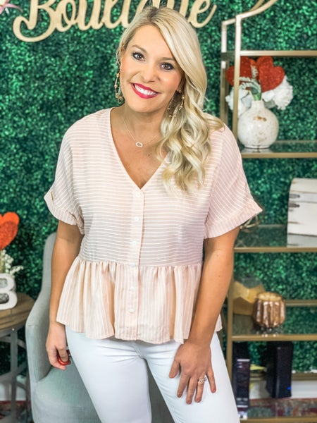 The Perfect Peplum Top *Final Sale*