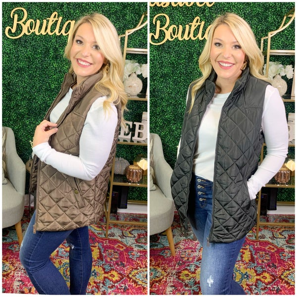 DEAL OF THE DAY- LIVING LARGE QUILTED VEST