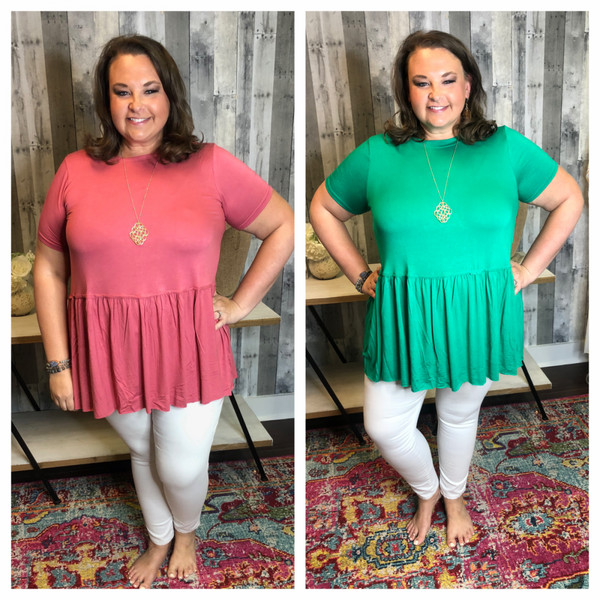 { PLUS- DEAL OF THE DAY- RUFFLE TIME TOP}