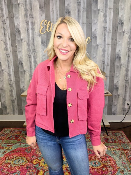 PRETTY IN PINK UTILITY JACKET *Final Sale*