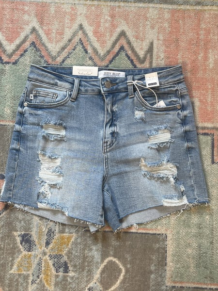 Judy Blue - High Rise Distressed Shorts