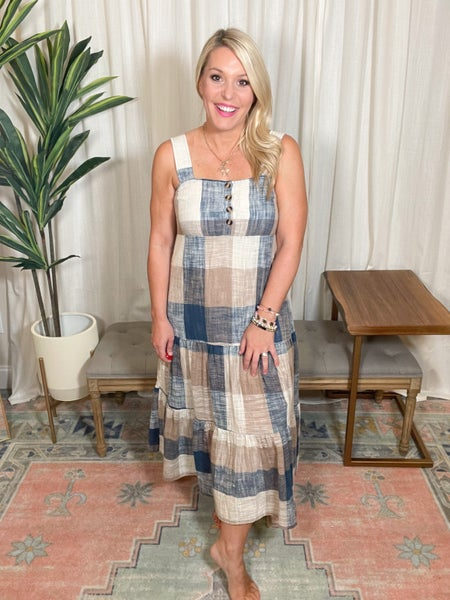 Playing In Plaid Dress