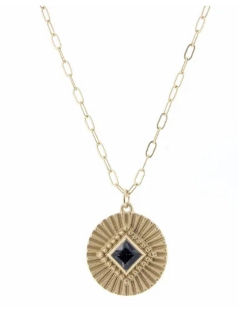 "Black ""Diamond"" Necklace"
