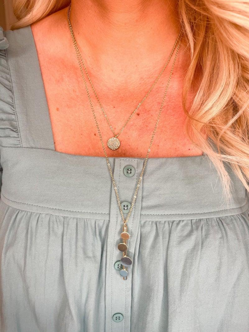 Bar Drop Necklace