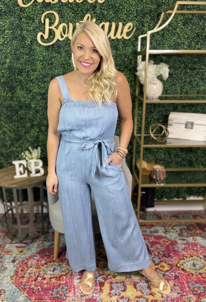 Taking Charge Tencel Jumpsuit