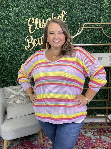{ PLUS SIZE-BOLDLY YOURS TOP}