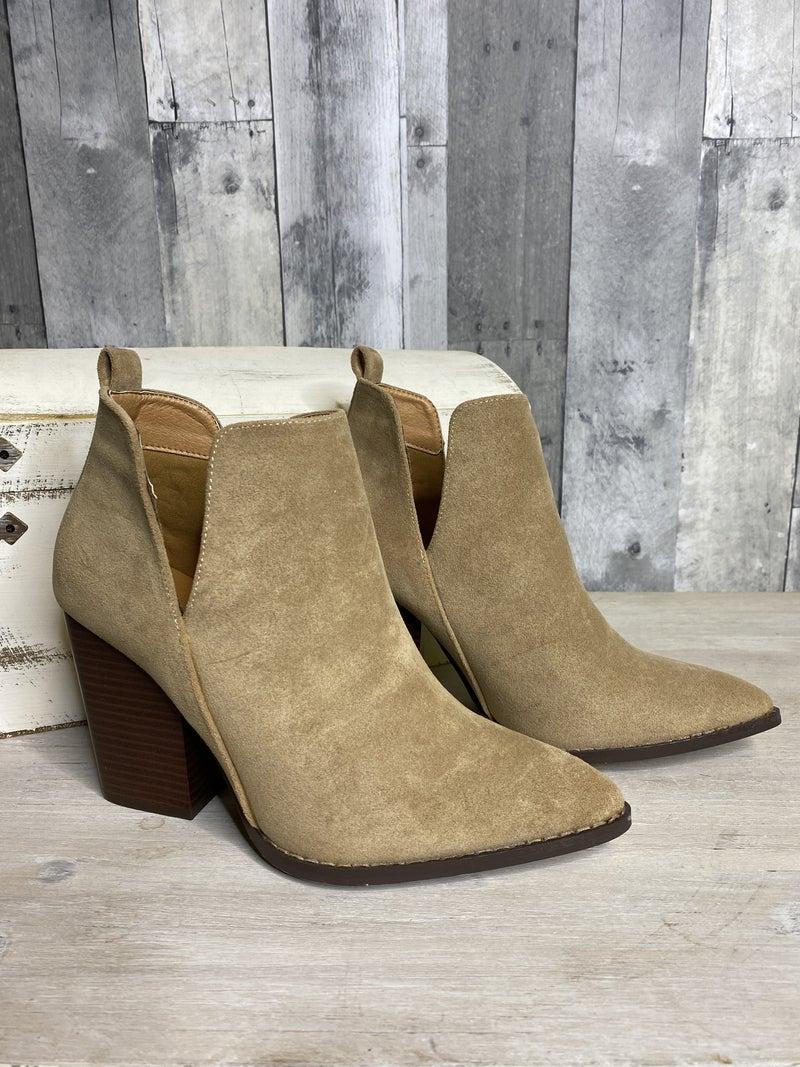 Celeste Taupe Booties