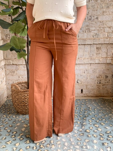 ALL THE FEELS LINEN PANTS