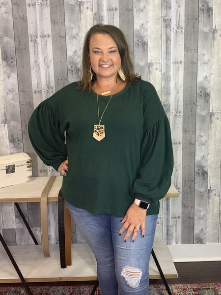 {PLUS SIZE - COMFY COZY TOP} *Final Sale*