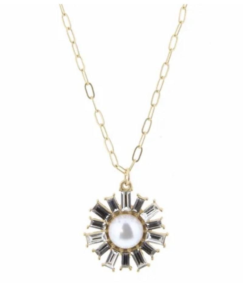 Czech Stone Charm Necklace