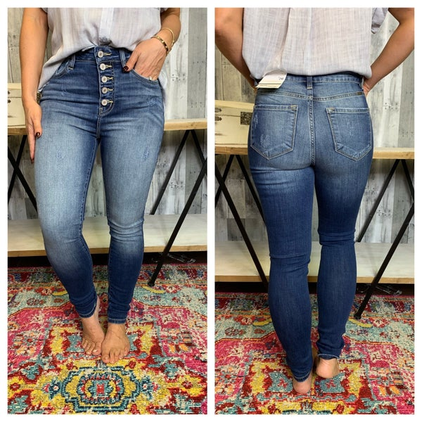{KAN CAN - HIGH RISE SUPER SKINNY JEANS}