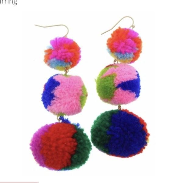 The Pom Pom Earrings