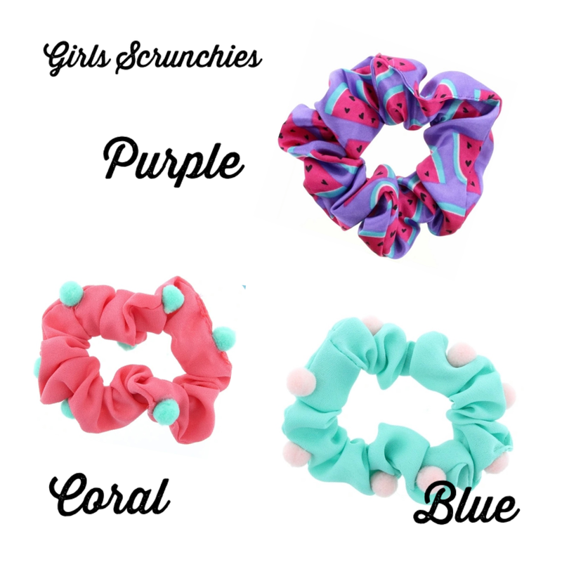 Girls Fun in the Sun Scrunchies