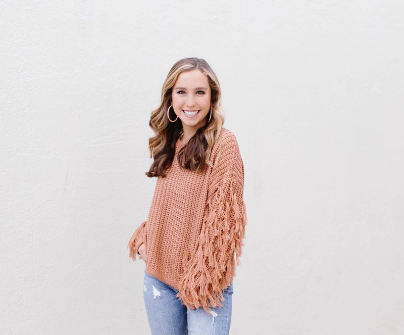 Fringe for days sweater *Final Sale*
