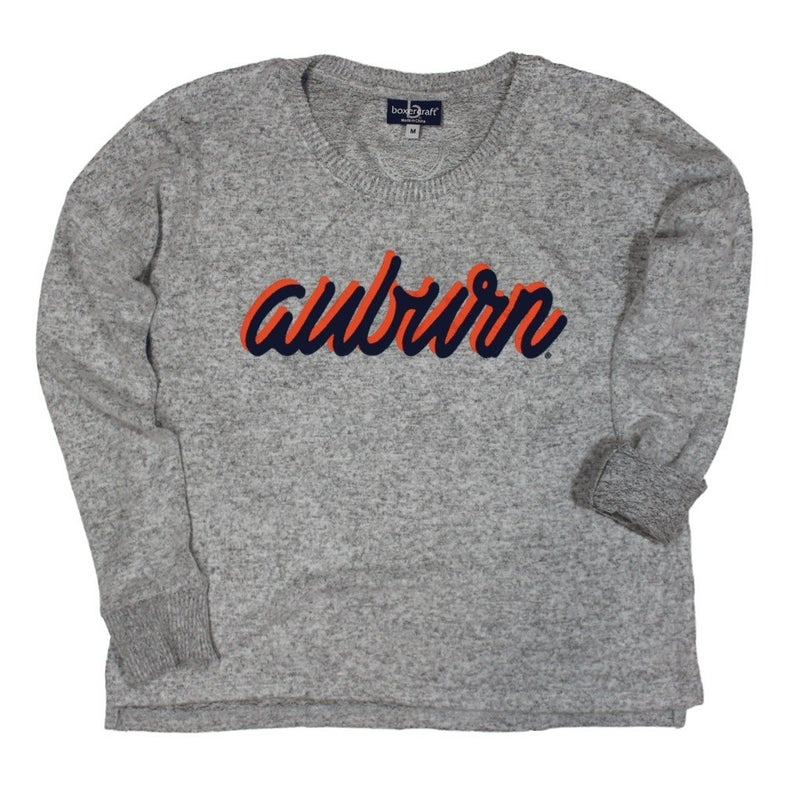 LUXURY- AUBURN SCRIPT SWEATER