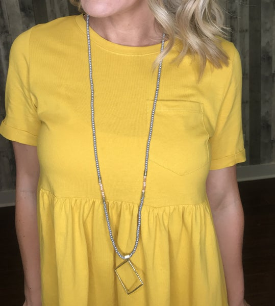 {ALL SQUARED AWAY NECKLACE} *Final Sale*