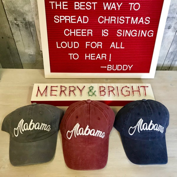 {ALABAMA COLORED HATS}